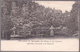 CPA - Chiny - Excursion En Barquette De Chiny à La Cuisine - Agréable Rencontre à La Goflouet  - 1902 - Chiny