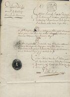 Précurseur - Manuscrit Du Maire De Moen + Cachet De La Mairie (6 Prairial An XI) , Rép. Fra. 75 Cents - 1794-1814 (French Period)