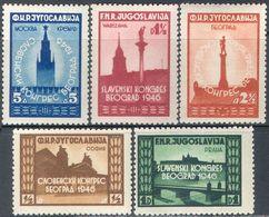 M4337 ✅ Slavic Congress Architecture 1946 Yugoslavia 5v Set MNH ** 25ME - Neufs