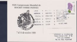 Argentina Card 1989 XXIX Campeonato Mundial De Hockey Sobre Patines (G114-24) - Rasenhockey