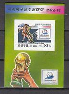 Football / Soccer / Fussball - WM 1998:  Korea  Bl **, Imperf. - 1998 – France