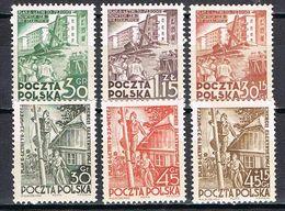 POLOGNE 627/628** - 629/630A** - 1944-.... République