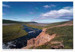 1 AK Island / Iceland * Landschaft Im Tal Bei Thorvaldsstadir * - Iceland