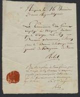 Précurseur - Manuscrit Daté De Nieuport Le 16 Thermidor An II : Le Commissaire De Guerre... - 1794-1814 (French Period)