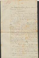 """Précurseur - Manuscrit Du Bourgmestre De La Commune De Proven (1814) """"Autorisation Pour Se Retirer Dans Ses Foyers"""" - 1794-1814 (French Period)"""