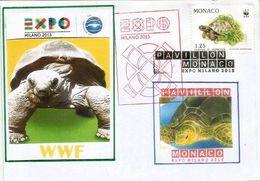 MONACO EXPO UNIVERSELLE MILAN 2015 Lettre Du Pavillon Monégasque L'EXPO à MILAN, Avec Timbre WWF De MONACO - Varietà