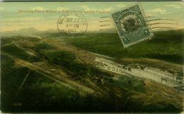 PANAMA - SHOWING PEDRO MIGUEL AND MIRAFLOREA LOCKS - OVERPRINT STAMP - CANAL ZONE - MAILED 1915 ( BG9475) - Panama