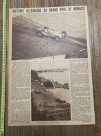 1937 M AUTOMOBILE GRAND PRIX DE MONACO VON BRAUSCHITSCH PRINCE RAINIER LAURI SCHELL ATTAQUE PAUL - Colecciones