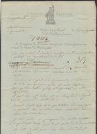 """LAC Imprimé """"Liberté, égalité"""" Daté De Wacken Le 16 Floréal An V / Le Commissaire Directoir Executif > Bruges - 1794-1814 (French Period)"""
