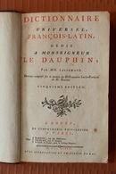 Dictionnaire Français-Latin - Par MM. Lallemant - 5è édition - 1782 - - Boeken, Tijdschriften, Stripverhalen