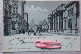 BRUXELLES :  Rue De La Régence Et Palais Des Beaux Arts En 1899 - Monumenti, Edifici