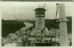 PANAMA - ON THE BOAT - RPPC POSTCARD - 1940s ( BG9479) - Panama