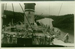 PANAMA - ON THE BOAT - RPPC POSTCARD - 1940s ( BG9480) - Panama