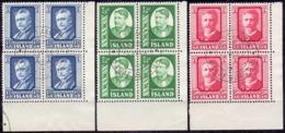 IJsland 1954 Hannes Hafstein Vierblok GB-USED - 1944-... Republique