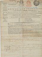 Lot De 2 Procès-Verbal (Canton D'Houtave, Commune De Zuienkerke (16 Brumaire An VII) Vente Des Biens Nationaux - 1794-1814 (French Period)