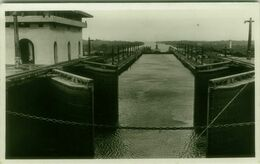 PANAMA - CANAL - RPPC POSTCARD - 1940s ( BG9481) - Panama