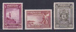 PARAGUAY 1942, Mi# 540-542, Part Set, Nature, Emblems, MH - Paraguay