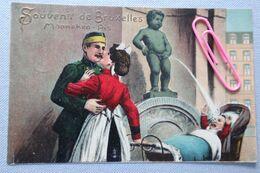 BRUXELLES :  MANNEKEN-PIS En Relief - Monumenti, Edifici