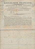 Procès Verbal De Première Enchère (Arrondissement Communal De Bruges, Commune De Zuienkerke ) 15 Floréal An X - 1794-1814 (French Period)