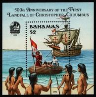 Bahamas 1992 - Mi-Nr. Block 68 ** - MNH - Schiffe / Ships - Columbus - Bahamas (1973-...)