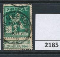 Nr   110  Met Stempel   Grembergen - 1912 Pellens
