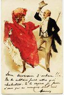 3970 - Suisse  -   Illustrateur  Cancan Französ  +  Ambulant Et Cursive CHAUX De FONDS  -  Circulée En 1901 - NE Neuchatel