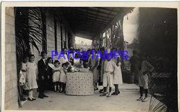 139560 PANAMA COSTUMES PEOPLE YEAR 1924 REAL PHOTO POSTAL POSTCARD - Panama