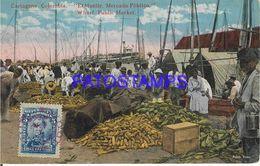 139561 COLOMBIA CARTAGENA EL MUELLE COSTUMES MERCADO MARKET POSTAL POSTCARD - Kolumbien