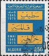 ALGERIA 1976 30th Anniversary Of Setif, Guelma And Kherrata Massacres - 50c Setif-Guelma-Kherrata FU - Algérie (1962-...)
