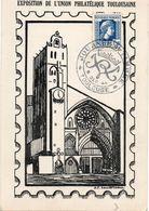TOULOUSE (HAUTE GARONNE) : JOURNEE DU TIMBRE 1944 Oblitération Temporaire Sur CARTE POSTALE - Post