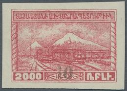 """Armenien: 1922, """"Hungerhilfe"""" 8 Werte Komplett, Mit Handstempelaufdruck Des Neuen Wertes In Guter Un - Armenia"""