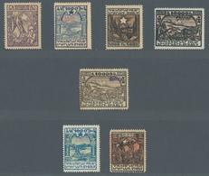 Armenien: 1923, Nicht Ausgegebene Freimarken Mit Metall-Handstempelaufdruck 10 Werte Ungebraucht. Zu - Armenia