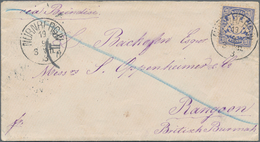 Birma / Burma / Myanmar: 1883, Incoming Mail From Nürnberg (Bavaria/Germany) Via Brindisi To RANGOON - Myanmar (Burma 1948-...)