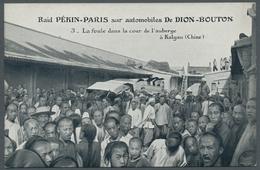 China - Besonderheiten: 1907, Ungebrauchte Ansichtskarte Der Berühmten Autorallye Peking-Paris, Mit - China