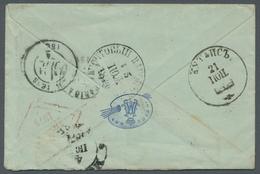 Georgien - Stempel: 1874, Markenloser Damenbrief Aus Kutaisi Nach Poitiers / Frankreich Mit Rückseit - Georgia