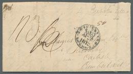 """Indien - Vorphilatelie: 1811, Brief Aus """"Camp Serroor"""" (Poona Distrikt) Nach Großbritannien Mit Hand - India (...-1947)"""