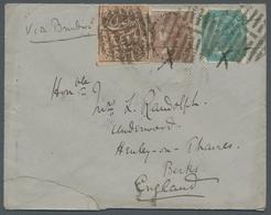 Indien - Feudalstaaten - Jammu & Kashmir: 1882, 1 Anna Rot (Mi.-Nr. 67 B) Mit älteren Britisch-Indie - Stamps