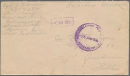 Singapur: 1946, Feldpostbrief Eines Niederländischen Marinesoldaten Aus Batavia, Versehen Mit Provis - Singapore (...-1959)