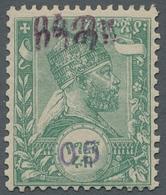 """Äthiopien: 1905, """"05 C. Harar-Provisorium"""", Stamped Value With Protection Imprint In Black And Value - Ethiopie"""