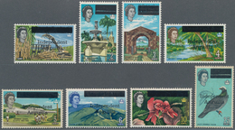 Anguilla: 1967, Aufdrucksausgabe, Acht Werte Zwischen 1 C. Und 25 C. In Zumeist Tadellos Postfrische - Anguilla (1968-...)