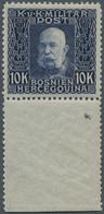 Bosnien Und Herzegowina (Österreich 1879/1918): 1914, Franz Joseph 10 Kr. Violettblau Auf Grau Vom U - Bosnien-Herzegowina