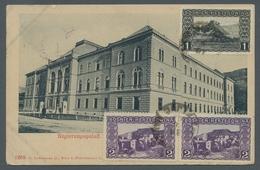 Bosnien Und Herzegowina - Besonderheiten: 1909, Freimarkenausgabe 1 H. Und Waagerechtes Paar 2 H. Au - Bosnien-Herzegowina