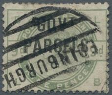 Großbritannien - Dienstmarken: 1883, GOVERNMENT PARCELS, Queen Victoria 9 Pence Dull-green, Cancelle - Servizio