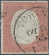 Italien - Altitalienische Staaten: Sardinien: 1858, 2 Gr Purple Rose Unused With Tiny Rest Of Hinge, - Sardaigne