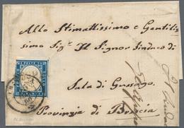 Italien - Altitalienische Staaten: Sardinien: 1860: SOSPIRO, Rare Austrian Post Mark In Block Letter - Sardaigne