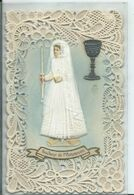 CARTE FANTAISIE - Souvenir De Première Communion ( Superbe Carte ) - Otros
