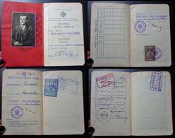 Yugoslavia C1926 Slovenia Croatia Vintage Expired Passport Revenue Stamps Canada Germany BP1 - Documenti Storici