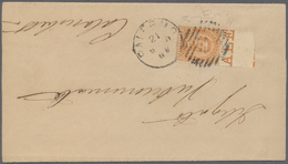 """Italien: 1879, 20 Cent. Orange """"Umberto I"""" With Double Perforation At Both Horizontal Sides On Small - 1900-44 Victor Emmanuel III"""