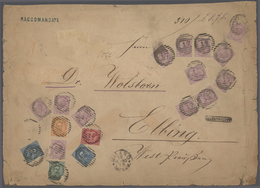 Italien: 1880, Large Front Of Cover Of A Registered Letter From Milan To Elbing (West-Prussia) Frank - 1900-44 Victor Emmanuel III
