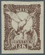 "Jugoslawien: 1919, ""2-45 F., 5 Kr. And 2 F. News Paper Unperforated"", Mint Hinged Set In Good Condit - 1919-1929 Reino De Los Serbios, Croatas Y Eslovenos"